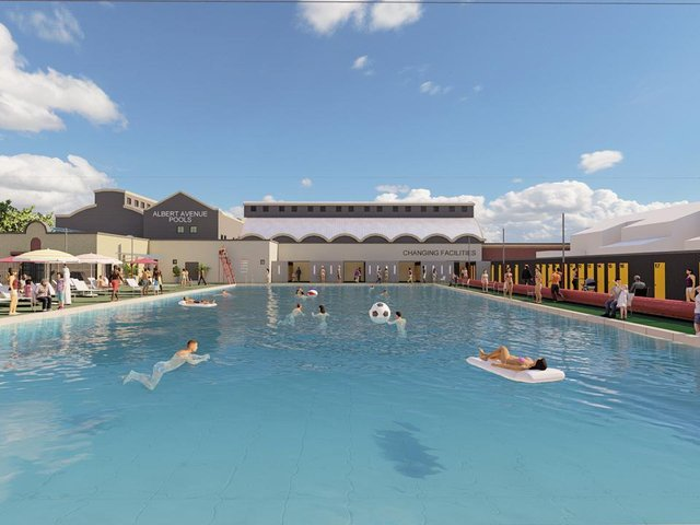 CGI of the new lido at Albert Avenue Baths