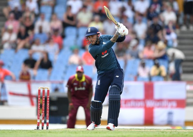 BACK IN THE FRAME? Alex Hales in ODI action for England against hosts West Indies in March 2019. Picture: Gareth Copley/Getty Images.