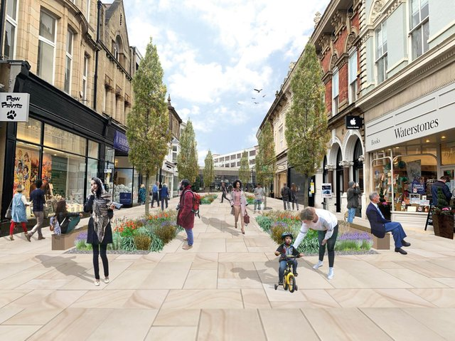 An artist's impression of how the centre of Harrogate could look after the project