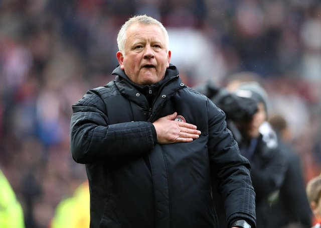 Sheffield United manager Chris Wilder. Picture: PA.