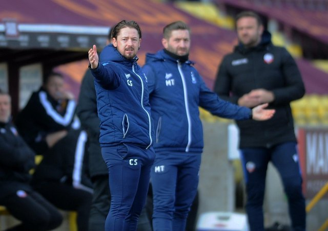 Bradford managers Mark Trueman and Conor Sellars. Picture: Simon Hulme