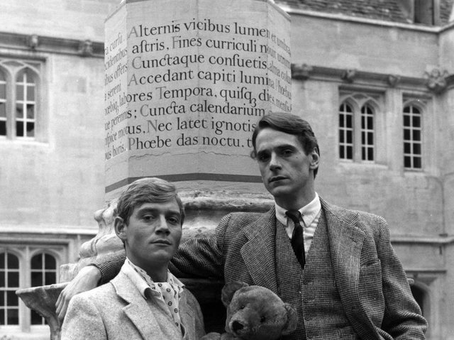 Anthony Andrews as Sebastian Flyte (R) and Jeremy Irons as Charles Ryder in Brideshead Revisited. (Pic: Granada)