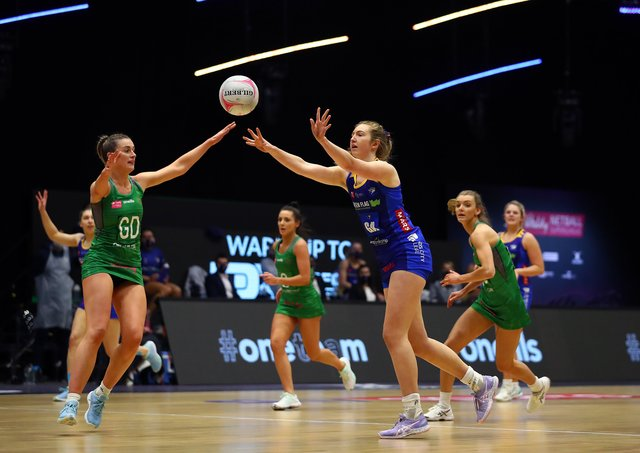 IN AT THE DEEP END: Leeds Rhinos' Sienna Rushton, right, in action against Celtic Dragons. Picture: Jan Kruger/Getty Images
