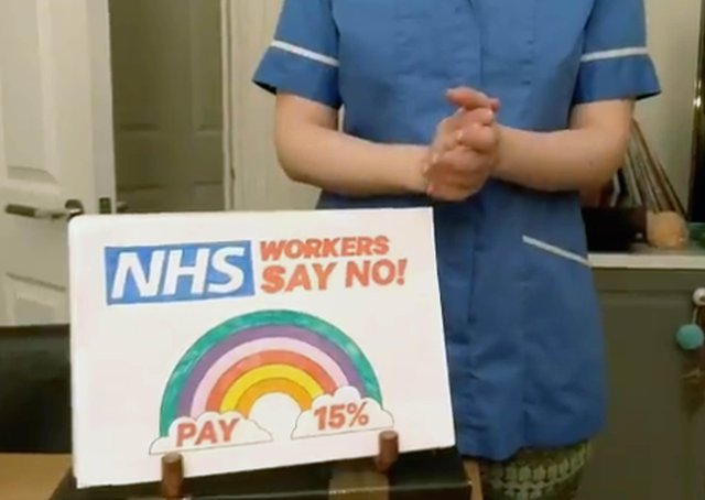 The Governmen tis coming under increasing pressure to rethink its proposed one per cent pay increase for NHS staff.