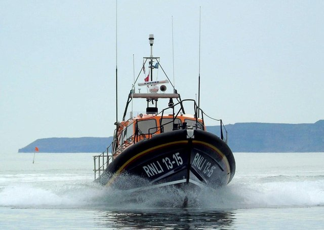 This is Scarborough's lifeboat in action. Photo: RNLI.