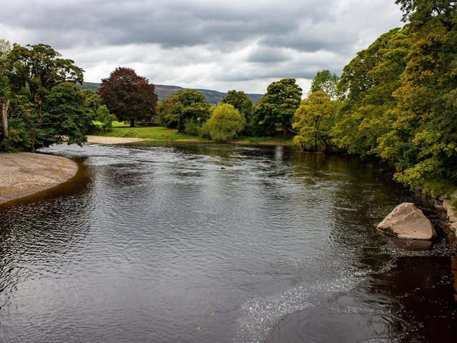 The River Wharfe in Ilkley