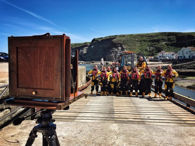 Members of the crew from Staithes and Runswick Bay in June 2017. (Picture: Jack Lowe).