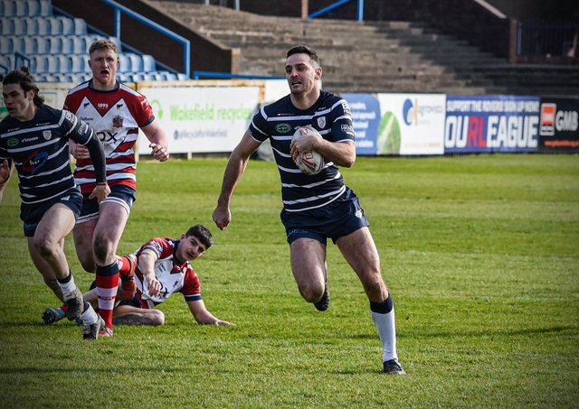 Craig Hall back in action after a year away as Featherstone played Oldham in a pre-season friendly (PIcture: Dec Hayes Photography)