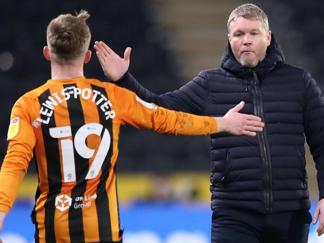 """Hull City chief Grant McCann, right, hailed Keane Lewis-Potter's performance against Oxford United as """"excellent"""". Pictures: Getty Images"""