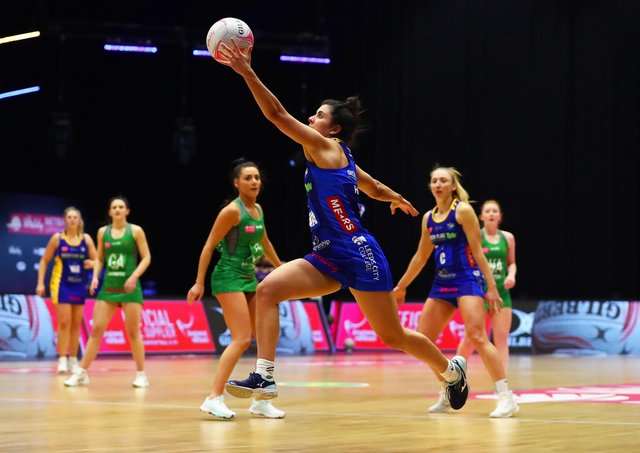 Leeds Rhinos' Amelia Hall. Picture: Jan Kruger/Getty Images for Vitality Netball Superleague.