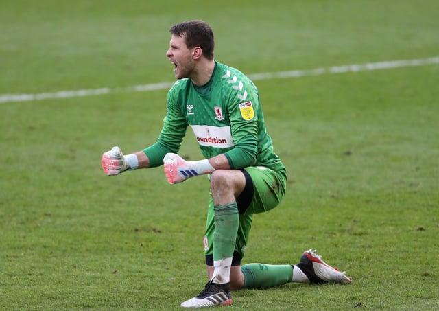 Safe hands: Middlesbrough goalkeeper Marcus Bettinelli.