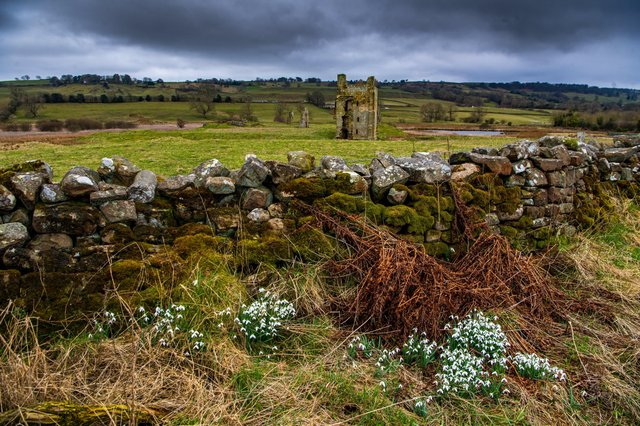 Picture James Hardisty. Standing proudly on private land the square gatehouse of the 14th-century Ravensworth Castle situated on the edge of the rural village of Ravensworth, North Yorkshire, England.