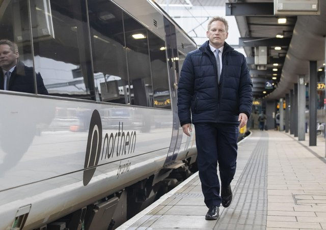Transport Secretary grant Shapps during a visit to Leeds in January last year.