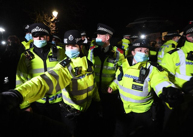 Police tactics at a Reclaim The Streets vigil in memory of Sarah Everard continue to be criticised.