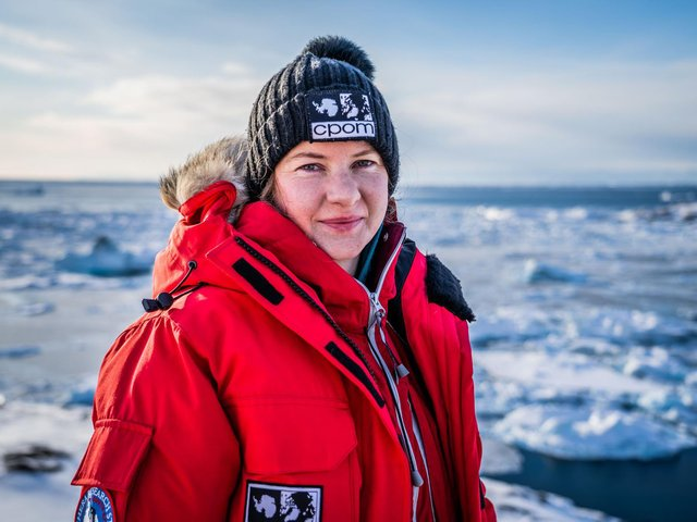 Pictured, Dr Anna Hogg from Leeds University, whose vital work has seen her travel to the Antarctic multiple times in groundbreaking research. Photo credit: Submitted picture.