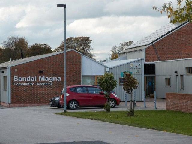 Sandal Magna Community Academy on Belle Vue Road in Wakefield.