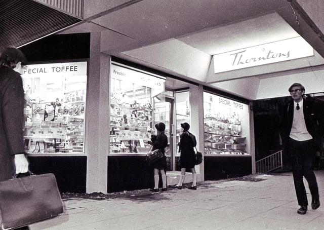 Thorntons on Arundel Gate in Sheffield in December 1968