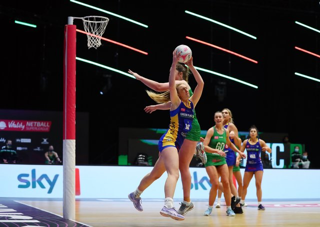 Top performance: Sienna Rushton of Leeds Rhinos impressed in the win over Strathclyde Sirens. (Photo by Jan Kruger/Getty Images for Vitality Netball Superleague)