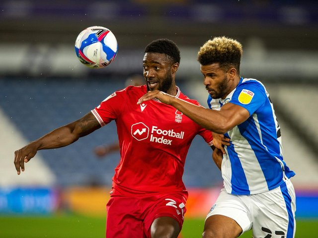 RECEPTIVE: Carlos Corberan has enjoyed working with Huddersfield Town striker Fraizer Campbell, right