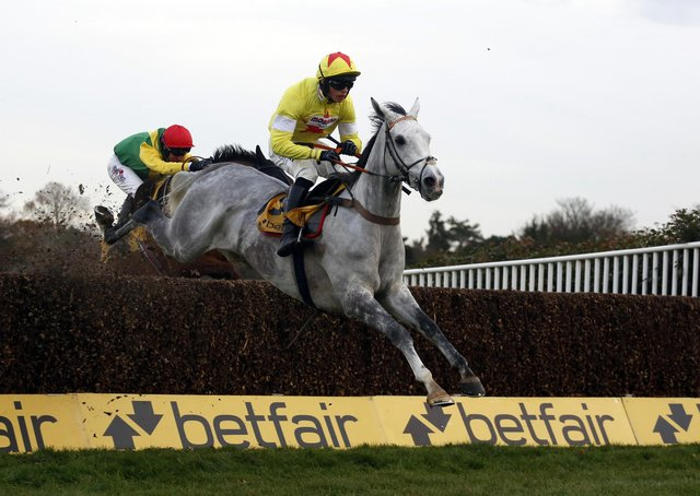 Harry Cobden and Politologue, pictured winning the 2017 Tingle Creek Chase, line up in today's Queen Mother Champion Chase.