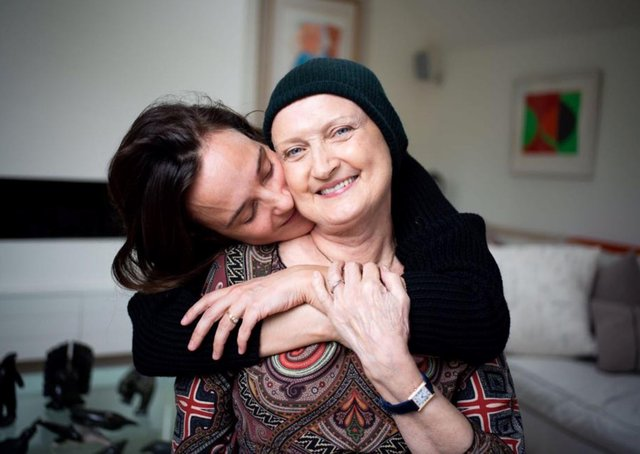 Jess Mills and her late mother Tessa Jowell. Picture: Alice Aedy/PA.