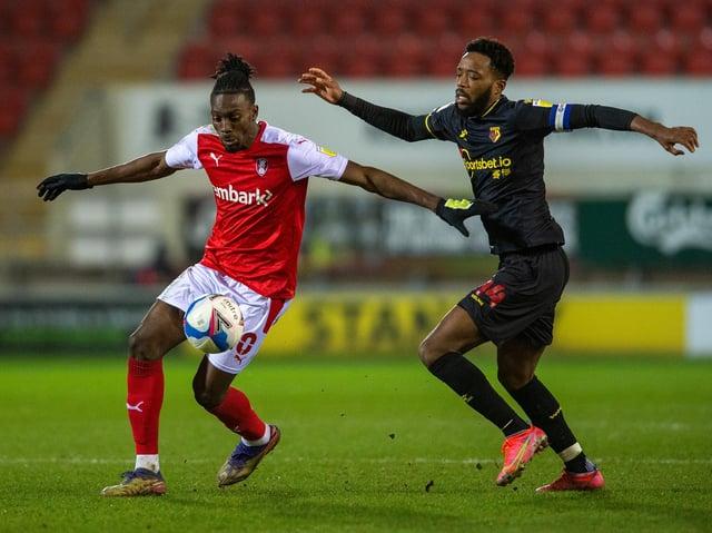 GOAL: Rotherham United striker Freddie Ladapo