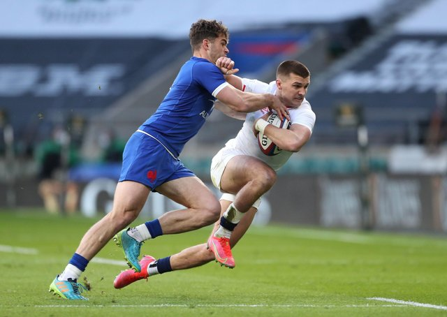 England's Henry Slade in action against France during the weekend's round of Guinness Six Nations encounters. Picture: David Davies/PA Wire.