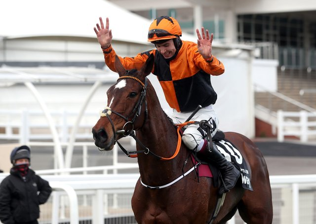 Put The Kettle On is now unbeaten in four starts at Cheltenham after landing the Betway Queen Mother Champion Chase under Aidan Coleman.