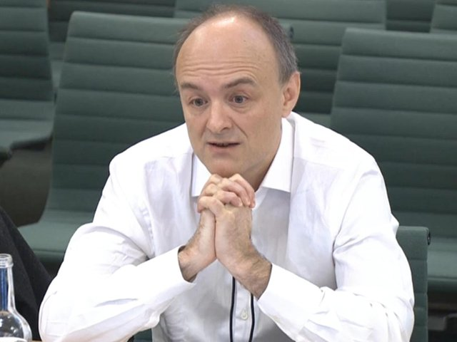 Dominic Cummings giving speaking at the Commons Science and Technology Committee which is taking evidence on a new UK research funding agency. Photo: PA