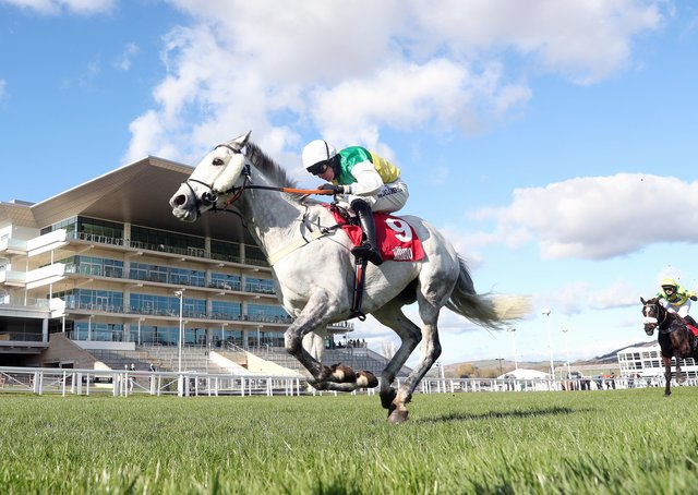 This was Vintage Clouds winning the Ultima Handicap Chase at Cheltenham for the fifth time of asking. He was ridden by Ryan Mania who has paid tribute to Sue and Harvey Smith.