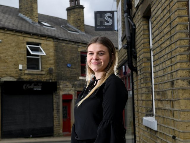 Breaking barriers: Brittany Clark is currently doing a graduate solicitor apprenticeship at the Elland office of law firm Holden Smith.