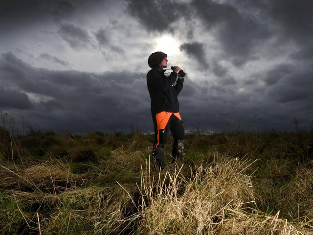 Sophie Pinder from the Yorkshire Wildlife Trust is pictured Rabbit Ings Country Park, Barnsley..The former pit sit is a natural habitat for the fast declining bird the Willow Tit..Picture by Simon Hulme