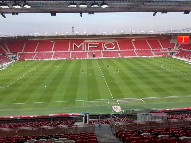 Riverside Stadium, home of Middlesbrough FC.
