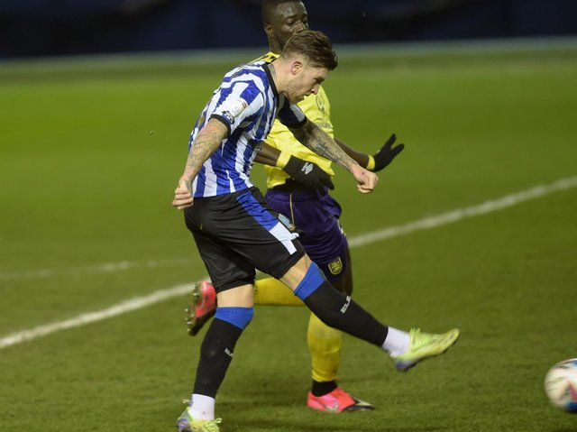 QUALITY GOAL: Josh Windass puts Sheffield Wednesday in front
