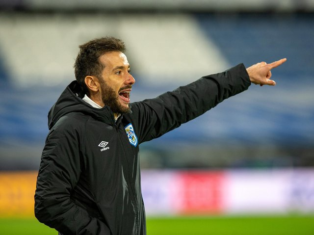 FRUSTRATIONS: Carlos Corberan wanted to see a better final ball from Huddersfield Town