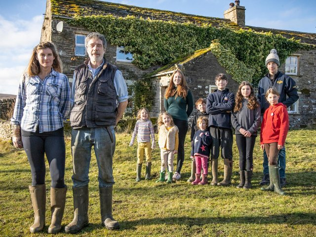 Clive and Amanda Owen on their farm in North Yorkshire. (Pic: Renegade Pictures)