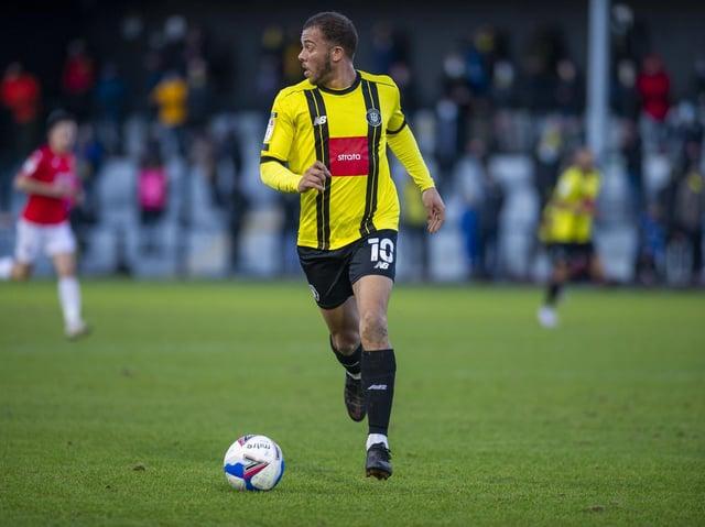 EXTENSION: Harrogate Town striker Aaron Martin