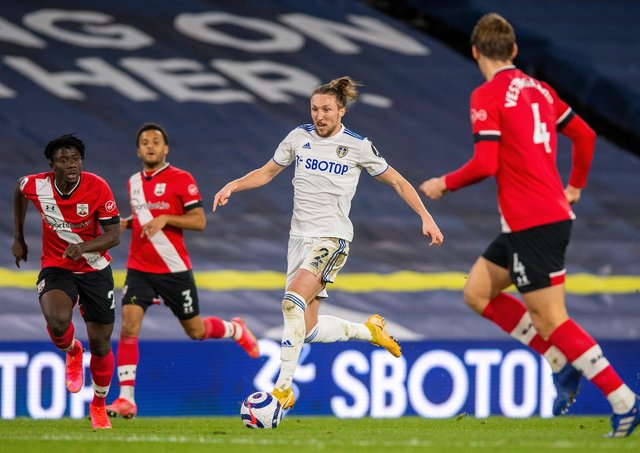 CLOSE CALL-UP: Leeds United's Luke Ayling is on the fringes of the England squad,says Gareth Souhgate. Picture: Bruce Rollinson