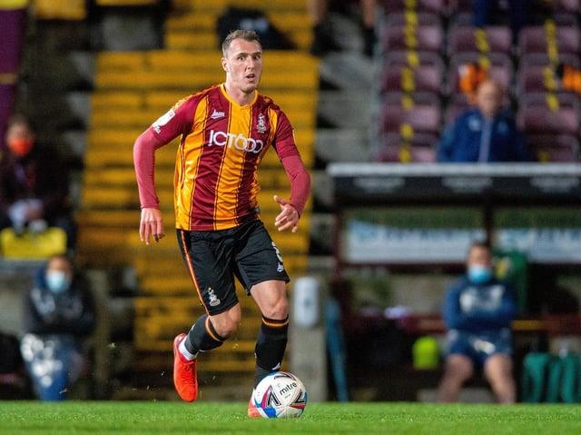 INJURY: Bradford City's Callum Cooke