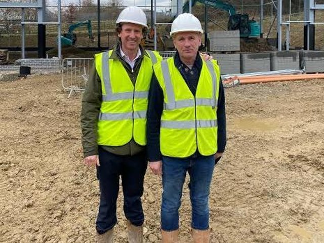 Edward Marshall with FME's construction manager Chris Balme at Flanshaw Way