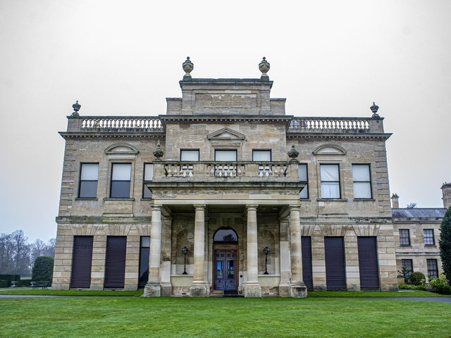 Skimmed milk was used to clean the stone floors at Brodsworth Hall in Yorkshire.