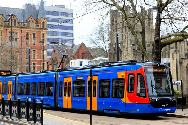 Trams continue to run for key workers in Sheffield city centre as the UK continues in lockdown