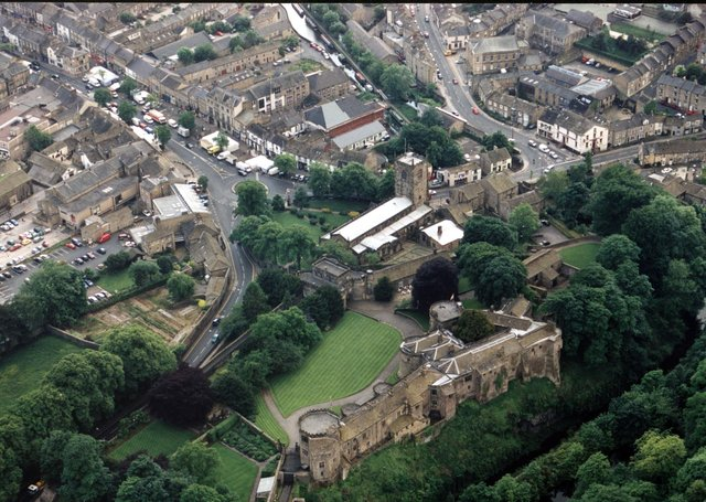 An aerial photo of Skipton, one of Yorkshire's much-loved market towns.