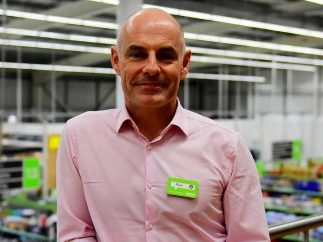 Roger Burnley, 54, has been Asda's CEO since January 2018