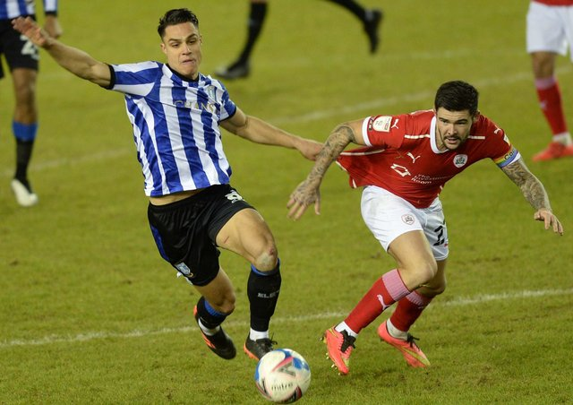 Yorkshire rivals Barnsley and Sheffield Wednesday.    Picture: Steve Ellis
