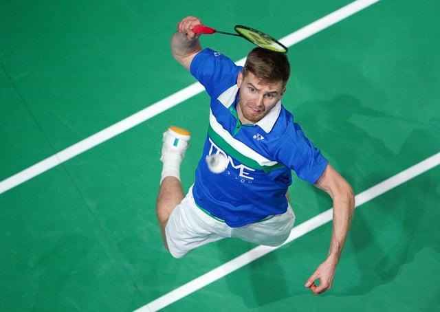 Huddersfield's Marcus Ellis in action gainst Denmark's Mikkel Mikkelsen and Rikke Soby. Pictures: PA