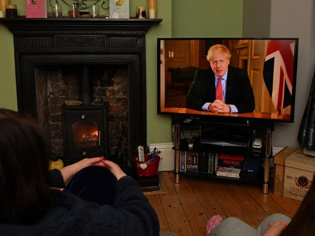 A year ago on Tuesday, millions across the country watched Boris Johnson give perhaps the most historic broadcast address to the British people since 1939 as the first lockdown began. Photo: Getty