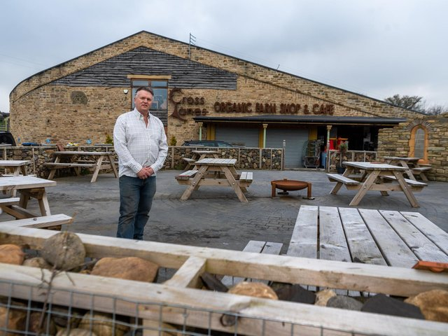 Peter Coverdale outside the family's organic farm shop