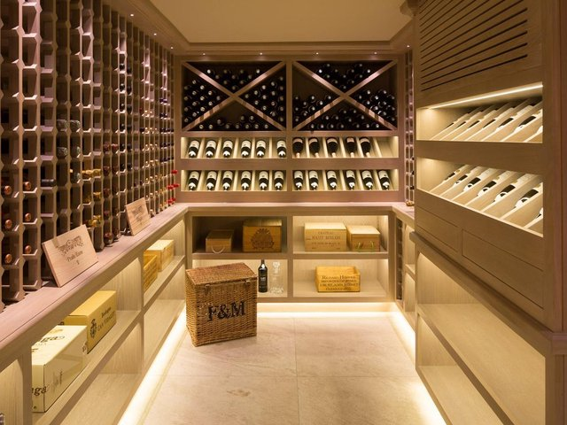 You can create a special room for your wine bottles.