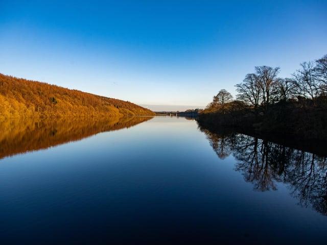 Lindley Wood Reservoir belonging to Yorkshire Water.